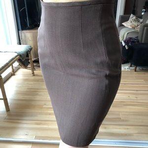 Taupe mini skirt